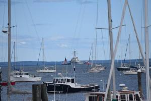 USS Mahan from outside Marine Tent